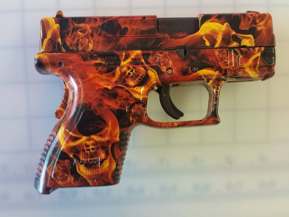 flaming pistol